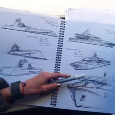 Military shaped in Pleasure craft design - The Vehicles Yacht Design, Boat Design, Boat Sketch, Boat Drawing, Yacht Interior, Car Design Sketch, Conceptual Design, Super Yachts, Water Crafts