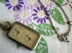 Old World Romantic  Antiqued Bronze Dual Time Pendant by ihcharms
