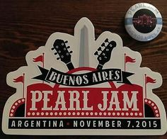 Pearl jam Argentina sticker