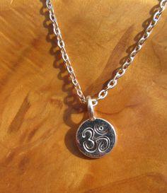 Om Ohm necklace  Buddha Buddhism Yoga Jewelry by DestinyAccessory