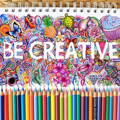 """Be Creative"" ✎ (Colorful and super imaginative illustrations by Kristina Webb in @colour_me_creative) #creativity #design"
