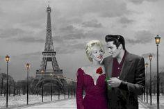 Aww, Elvis and Marilyn in Paris!