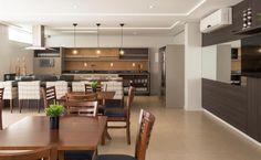 Espaço Gourmet | Área comum | Condomínio | Salão de festas | Cozinha | Cozinha Integrada | Projeto Ana Trevisan Arquitetura e Paisagismo Florianópolis - SC