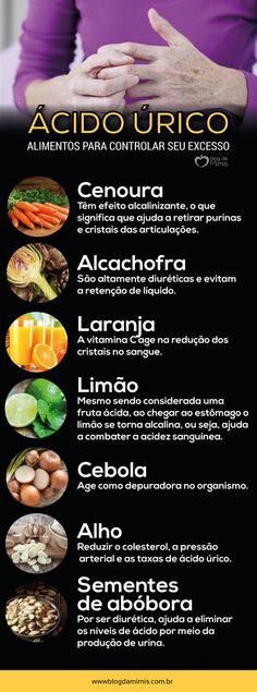 lista de alimentos buenos para el acido urico