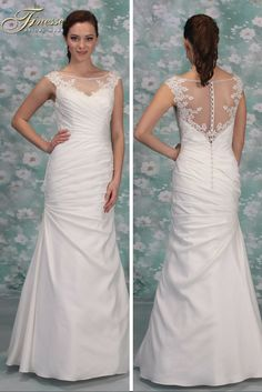 Classic Fitted Wedding Dress with a small flare from Finesse Bridal Wear in Listowel, Co Kerry #FitandFlare