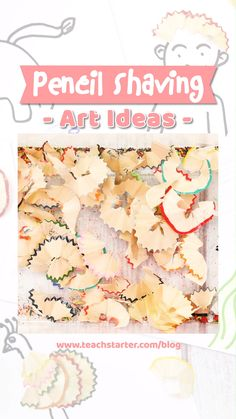 Are you looking for a quick and easy craft idea for the classroom? This is such a creative craft idea for the classroom and super easy to set up for the teacher. All you need is some pencils, pencil sharpener, glue and a wicked imagination! Quick And Easy Crafts, Easy Arts And Crafts, Paper Crafts For Kids, Easy Crafts For Kids, Craft Activities For Kids, Creative Crafts, Diy For Kids, Pencil Shavings, Pencil Sharpener