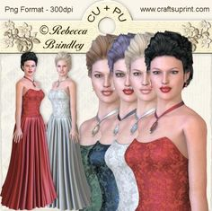 Always a Lady Designer Resource on Craftsuprint designed by Rebecca Brindley - This Graphics pack contains 4 images, each image is provided in both png and jpg format.