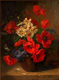 ru / Photo # 193 – Flowers – MontanaBY - New Deko Sites Red Poppies, Red Flowers, Beautiful Flowers, Flower Vases, Flower Art, Flower Arrangements, Art Floral, Vase Rouge, Art Painting Gallery