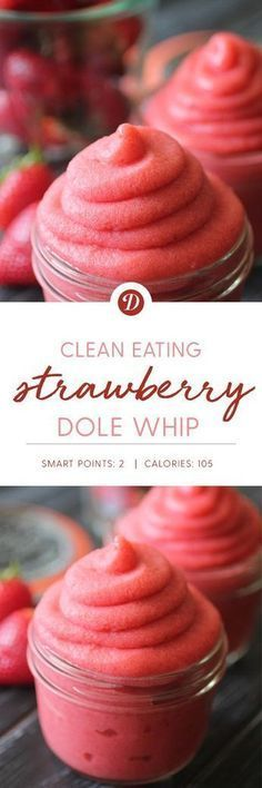 Clean Eating Strawberry Dole Whip
