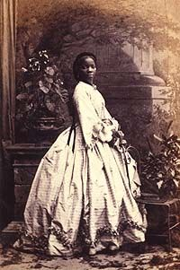 A real black princess. Sarah Forbes Bonetta was orphaned in African from inter tribal warfare. She was suppose to be sacrificed but was saved and brought to England by a Captain of the Royal Navy. She was presented to Queen Victoria and impressed her enough to be adopted as a Goddaughter of the queen and was raised in the middle class.