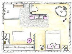 Consultas de decoración: Plano del dormitorio actual y minimalista