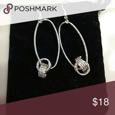 Silver earrings nwt Hoops with double circles Hannah Beury Jewelry Earrings