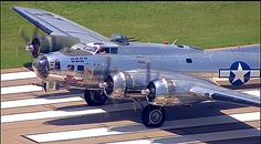 "Boeing B-17G Flying Fortress ""Sentimental Journey "" on its takeoff roll."