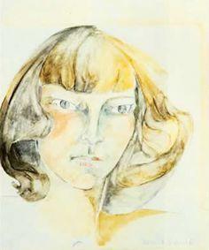 Watercolor Self Portrait, Zelda Fitzgerald (ca. early 1940s)