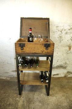 Regal Bar Weinregal Spirituosenregal Altholz