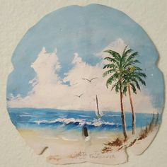Mom's painting on a sand dollar