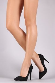 This alluring pump features a soft vegan suede upper e47a671c7628