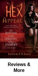 Hex appeal / edited by P.N. Elrod. Chock full of paranormal hijinx, this fantastic collection of 9 stories will hold readers spellbound with its irresistible hex appeal in a magical world where witches and conjurers exact sweet revenge on those who cross them. Fic Hex