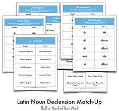 Latin Noun Declension File Folder Games and Story Cues to help memorize the noun cases and endings in Latin! Free printable download!