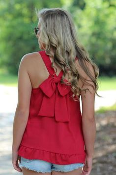 Bow Your Own Way Tank: Red