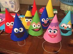 Sesame Street birthday party hats