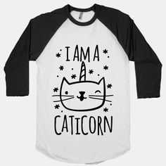 One part cat and one part unicorn. Oh man, does it get any more majestic than that? Embrace your inner caticorn and show off to your friends with this trendy I Am A Caticorn design! | Beautiful Designs on Graphic Tees, Tanks and Long Sleeve Shirts with New Items Every Day. Satisfaction Guaranteed. Easy Returns.