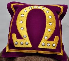 Omega Psi Phi pillow