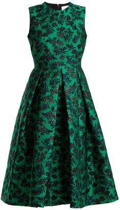Erdem Indra Peony-jacquard Dress In Green Brocade Dresses, Jacquard Dress, Draped Dress, Strapless Dress Formal, Sleeveless Dresses, Nice Dresses, Short Dresses, Prom Dresses, Green Floral Dress