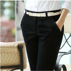 Aliexpress.com: Comprar Más los pantalones del tamaño pantalones de las mujeres 2015 primavera verano pantalones casuales ol pantalones harén mujeres oficina vestido formal pantalones flare pantalones kz2 de en general confiables proveedores de Founder of Fashion.