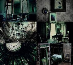 Image result for slytherin room
