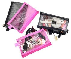 Mesh and Clear Vinyl Cosmetic Pouch, Promotional Products for Women - Femme Promo