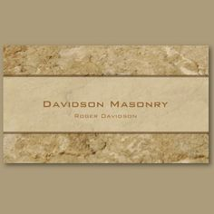 1000 images about business cards on pinterest business for Masonry business card ideas