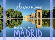 5 PLANES RELÁMPAGO PARA DISFRUTAR DE UNAS HORAS EN MADRID Eurotrip, Places To Visit, Traveling, The World, Turismo, Tapas Bar, Islands, Restaurants, Places