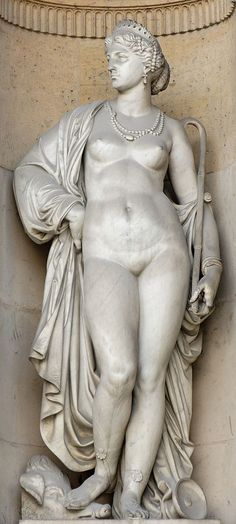 Charles Gumery (1827–1871)   Circe (1860). South façade of the Cour Carrée in the Louvre palace, Paris.