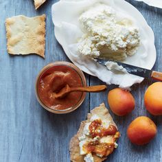 This recipe for fresh apricot butter is the perfect summer snack when served with fresh ricotta and crackers.