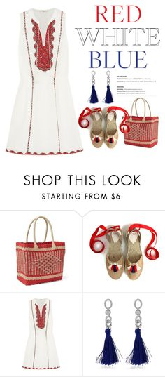 """""""Red, White, and Blue"""" by conch-lady ❤ liked on Polyvore featuring Gap, Madewell and fourthofjuly"""