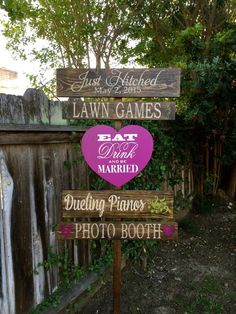 Wedding Directional Signs Rustic Wedding by OneCoopedChick on Etsy
