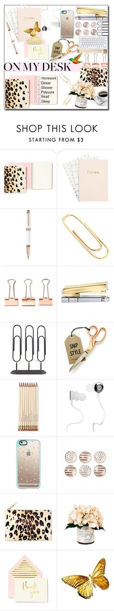 """On My Desk"" by selena-gomezlover on Polyvore featuring interior, interiors, interior design, home, home decor, interior decorating, Kate Spade, Montblanc, Nordstjerne and Dansk"