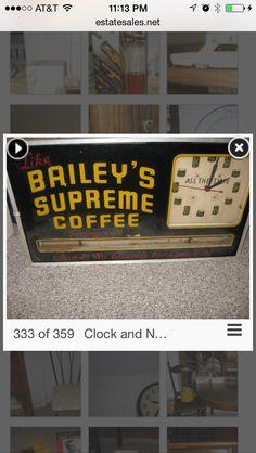 Bailey Coffee Clock