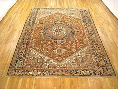 "Heriz & Serapi 10' 6"" x 8' 3"" Vintage Persian Heriz at Persian Gallery New York - Antique Decorative Carpets & Period Tapestries"