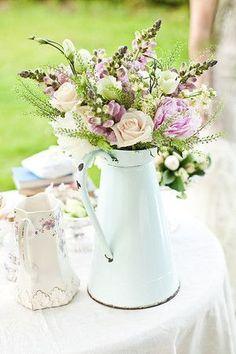 myenamel ware and blue/green mason jars