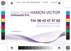 Carte de visite Osthéopathe