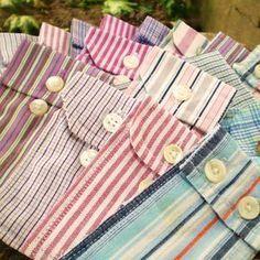 Cute little pouches made from mens dress shirt cuffs