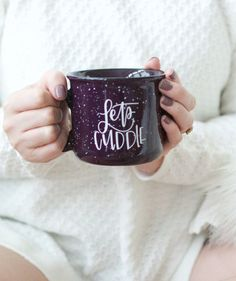 Let's Cuddle Camper Mug by Chalkfulloflove! It's that time again! Fall is almost here, and cozy times are ahead! Grab your pup, mom, sister, husband, boyfriend or lady friend and cuddle up with this cute hand lettered camper mug!