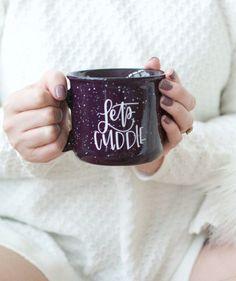Let's Cuddle Camper Mug by Chalkfulloflove