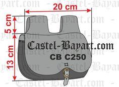 Escarcela medieval en cuero tamaño mediano - Reproducción histórica de escarcelas medievales.