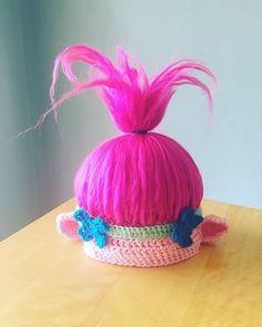 Poppy Troll Hat PDF Pattern Poppy Troll Troll Hat Poppy crochet pattern printable trolls party or Halloween costume pattern Crochet Poppy Hat, Crochet Troll Hat, Crochet Kids Hats, Hat Crochet, Chrochet, Crochet Princess Hat, Princess Poppy Costume Diy, Princesa Poppy, Troll Costume