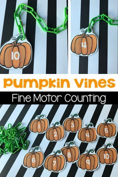 Not-So-Spooky Halloween Preschool Activities Pumpkin Vines Fine Motor Counting Theme Halloween, Halloween Math, Halloween Theme Preschool, Halloween Labels, Halloween Celebration, Halloween Halloween, Vintage Halloween, Halloween Pumpkins, Halloween Makeup