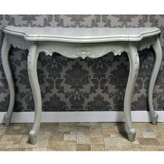 Antique Louis XV French Purbeck Grey Consule Table