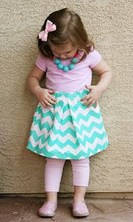 Chevron skirt! The necklace gives the perfect touch for a birthday party or nice dinner. ☺